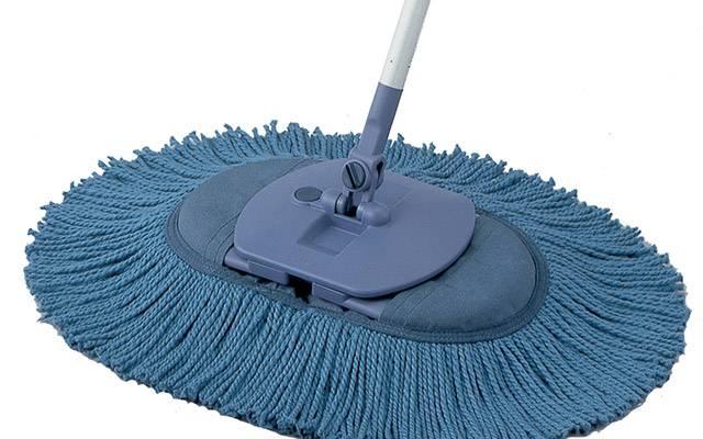 ブルーベリーエコ・フロア|軽量ハンドル採用、手軽なお掃除を実現したモップです。家具等への衝撃を抑え、傷をつけない構造になっています。