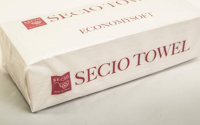セシオタオル|セシオオリジナルのペーパータオルで、手洗い後などの水分引取りに衛生的にお使い頂けます。