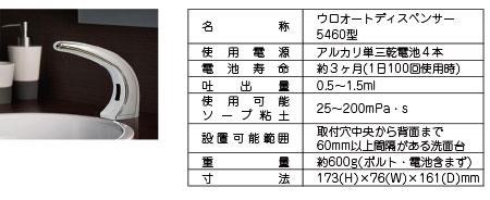 ウロ オートソープディスペンサー 5460型