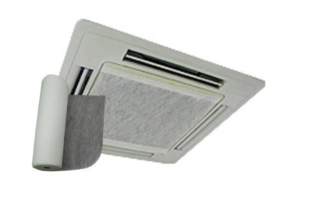 業務用長尺フィルター(エアコン用)|エアコンの吸い込み口部分に外側から張るタイプのフィルター、吸い込み口の大きさに合わせてカットでき30m巻のロールタイプなので経済的です。